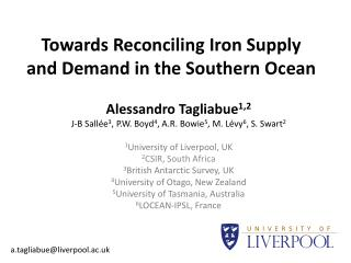 Towards Reconciling Iron Supply and Demand in the Southern Ocean