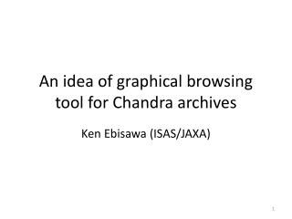 An idea of graphical browsing tool for Chandra archives