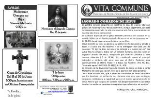 Boletín Parroquial  Junio  2012  Año 2  No.15