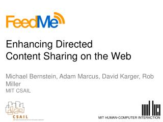 Enhancing Directed  Content Sharing on the Web