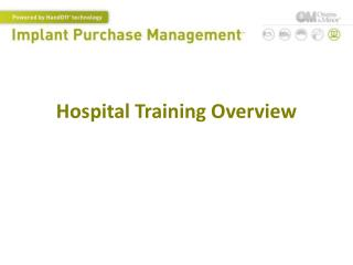 Hospital Training Overview