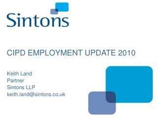 CIPD EMPLOYMENT UPDATE 2010
