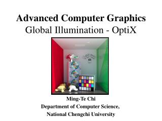 Advanced Computer Graphics Global Illumination  -  OptiX