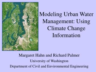 Modeling Urban Water Management: Using Climate Change Information