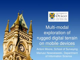 Multi-modal exploration of rugged digital terrain on mobile devices