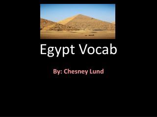 Egypt Vocab