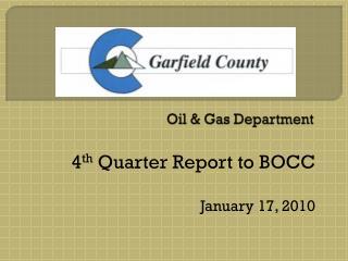 Oil & Gas Department