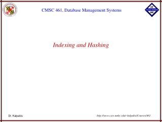 Indexing and Hashing