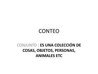 CONTEO