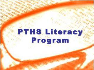 PTHS Literacy Program