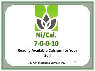 Readily Available Calcium for Your Soil