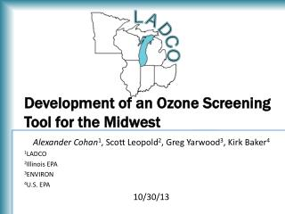 Development of an Ozone Screening Tool for the Midwest
