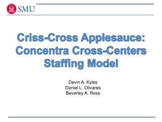 Criss-Cross Applesauce: Concentra Cross-Centers Staffing Model