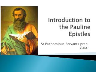 Introduction to the Pauline Epistles