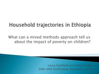 Household trajectories in Ethiopia
