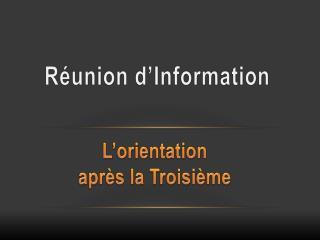 R�union d�Information