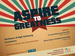 Attributes of High Achieving Fundraisers