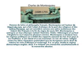 Charles de Montesquieu  (1689-1755