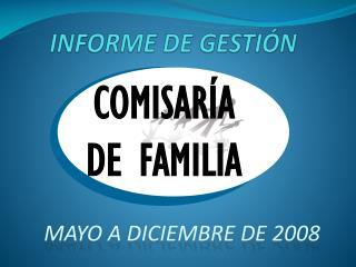 INFORME DE GESTIÓN