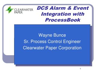 DCS Alarm  Event Integration with ProcessBook