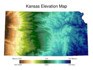 Kansas Elevation Map