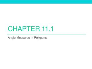 Chapter 11.1