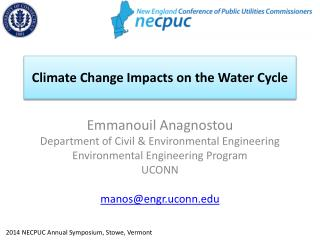 Climate Change Impacts  on the Water Cycle