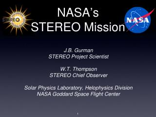 NASA ' s STEREO Mission