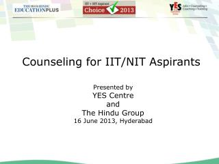 Counseling for IIT/NIT Aspirants