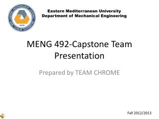 MENG 492-Capstone Team Presentation