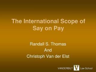 The International Scope of Say  on  Pay