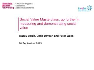 Social Value Masterclass: go further in measuring and demonstrating social value