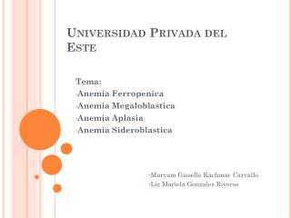 Universidad  Privada  del  Este
