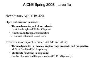 AIChE Spring 2008   area 1a