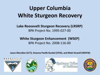 Upper Columbia  White Sturgeon Recovery