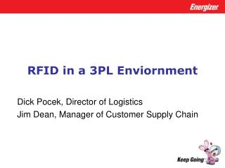 RFID in a 3PL Enviornment