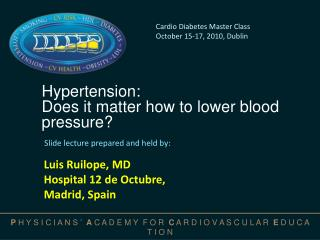 Hypertension: Does it matter how to lower blood pressure?