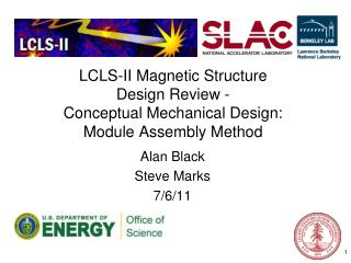 LCLS-II Magnetic Structure  Design Review -  Conceptual Mechanical Design: Module Assembly Method