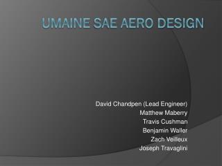 Umaine  SAE Aero Design