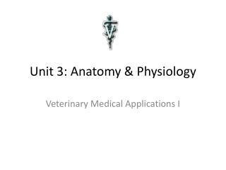 Unit 3: Anatomy & Physiology