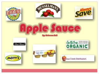 Apple Sauce By: Rebecca Bell