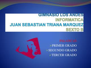 GIMNASIO LOS ANDES INFORMATICA JUAN SEBASTIAN TRIANA MARQUEZ SEXTO B