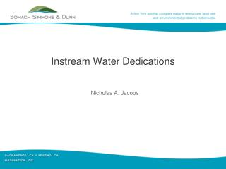 Instream  Water Dedications
