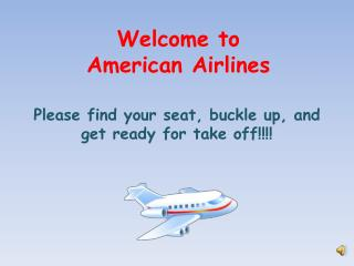 Welcome to  American Airlines