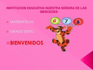 INSTITUCION EDUCATIVA NUESTRA SEÑORA DE LAS MERCEDES