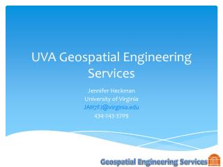 UVA Geospatial Engineering Services