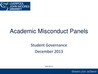 Academic Misconduct Panels