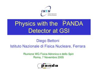 Physics with the PANDA Detector at GSI