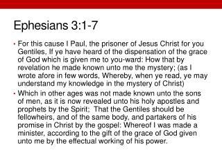 Ephesians 3:1-7