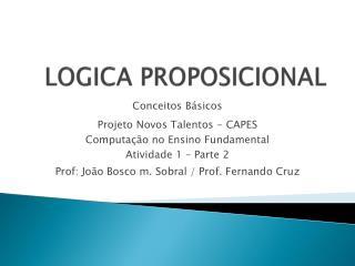 LOGICA PROPOSICIONAL